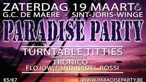 Paradise party poster